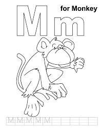 letter m coloring book pdf