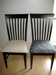 4 recovering dining room chairs diy before and after dining room chairs