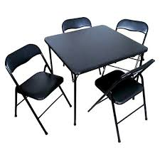 plastic metal chairs. 5 Piece Folding Chair And Table Set Black - Plastic Dev Group® Plastic Metal Chairs