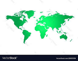 Colorful Political World Map Template Vector Image How To