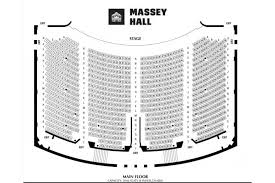 Roy Thomson Hall Seating Chart Detailed Massey Hall Floor Plan Massey Hall Seating Chart Massey