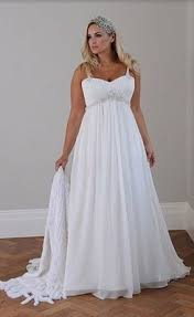 new a line court train chiffon plus size wedding dress for sale
