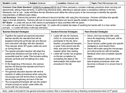 Format For Lesson Plans Lesson Planning Guide Example Note Aac Augmentative And