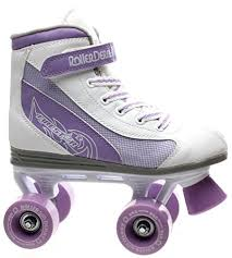 Roller Derby Firestar White Lilac Girls Quad Roller Skates