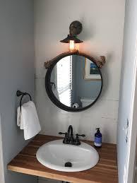 An Inexpensive and Completely Custom Butcher Block Bathroom Vanity ...
