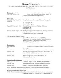 sample resume cna resume format for word clinical instructor cover ...