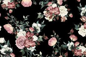 Black and Pink Floral Wallpapers - Top ...