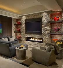 living room with stone fireplace with tv. 25 Incredible Stone Fireplace Ideas Living Room With Tv D
