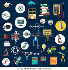 Science Physics Flat Physics Science Equipment And Symbols