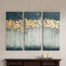 gallery direct kim coulter viridian sky ii oversized canvas art overstock  on blue gray and white wall art with midnight gold gold leaf painting modern art acrylic painting