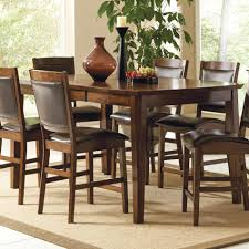 ... Dining Tables, Excellent Brown Rectangle Rustic Wooden Counter Height  Dining Table Set Stained Design: ...