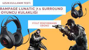 UZUN KULLANIM TESTİ | Rampage Lunatic 7.1 Surround Profesyonel Oyuncu  Kulaklığı İnceleme - YouTube