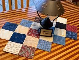 rustic quilted table runner table