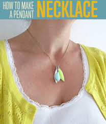 make a mosaic polymer clay necklace pendant tutorial