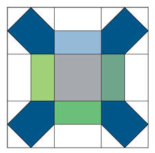 52 best Free Quilt Block Patterns images on Pinterest | Free quilt ... & X BLOCK Free patchwork quilt block pattern From a quilt designed by KRISTIN  LAWSON Featured in Adamdwight.com