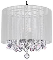 crystal chandelier chandeliers with large white shade and pink crystal stars