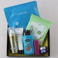 cosmetic bag that had skin care middot target beauty box april 2016 items