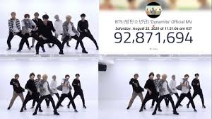 LIVE VIEW COUNT: BTS (방탄소년단) 'Dynamite' Official MV - YouTube