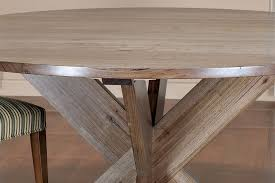 wayne round x leg messmate hardwood table