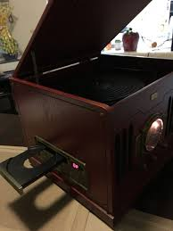 leetac nostalgic wooden center cd player am fm stereo radio audio equipment in fullerton ca