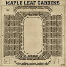 Acc Seating Chart Leafs Print Of Vintage Maple Leaf Gardens Seating Chart On Your Choice Of Photo Paper Matte Paper Or Canvas