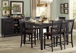 three falls 54 dark brown black counter height table w sold wood top