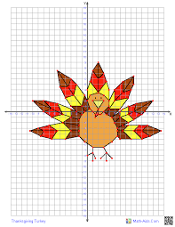 FREE PRINTABLE Thanksgiving Turkey~ This graphing worksheet will ...