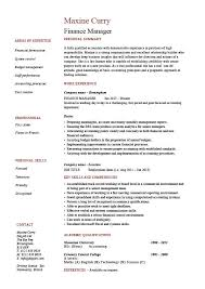 Finance Manager Resume Cv Example Sample Templates Auditing