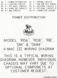 mack wiring diagram chassis seriesrd6 rd8 rb dm dmm 2000 older