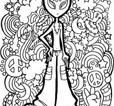 Black Hole Coloring Page Psychedelic Pages For Adults To Print Of