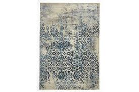 heritage blue modern rug 230x160cm
