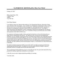 Bed Manager Cover Letter. Nurse Case Manager Cover Letter The ...