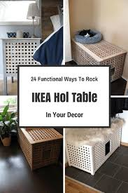 24 Functional Ways To Rock IKEA Hol Table In Your Decor | DigsDigs ...