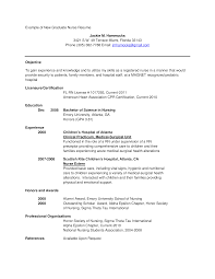 Free New Graduate Nurse Resume Templates At Resume Cover Letter 1517
