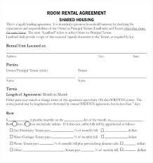 Rental Contract Template Word Room Rent Contract Sample Room Rental Agreement Template Word