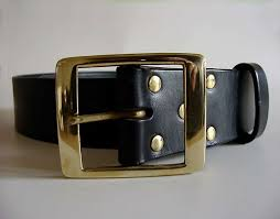 2 inch wide mens leather belts 5cm aros black vegetable tanned leather