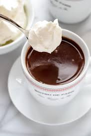 cup of hot chocolate with whipped cream. Perfect Hot French Hot Chocolate With Whipped Cream In Cup Of With S