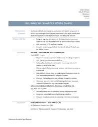 Insurance Underwriter Resume Samples Tips And Templates
