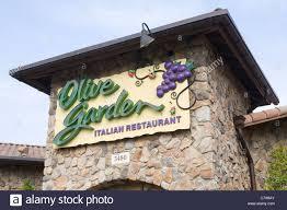 a olive garden restaurant stock image