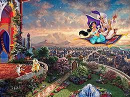 See more ideas about thomas kinkade, thomas kinkade puzzles, thomas. Amazon Com Ceaco Thomas Kinkade The Disney Collection Aladdin Jigsaw Puzzle 750 Pieces Toys Games