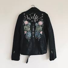 in the meantime here are 9 painted leather jackets to swoon over