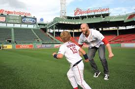 Dustin Pedroia and son Family Day Fenway Parkl | Red sox nation, Red sox  baby, Red sox baseball