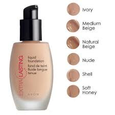 Avon Foundation Colour Chart Extra Lasting Liquid Foundation Color And 50 Similar Items