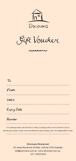 How To Make A Gift Certificate Gift Voucher