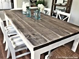 distressed wood dining table wooden table diy farm table diy visit