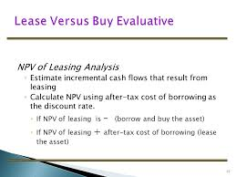 lease or buy calculation leasing ppt download