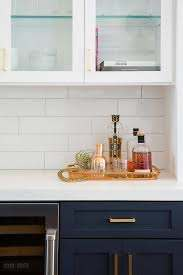 navy blue kitchen cabinets with