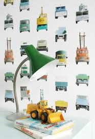 Studio Ditte Work Vehicles Wallpaper Boysroom Styling Stoer