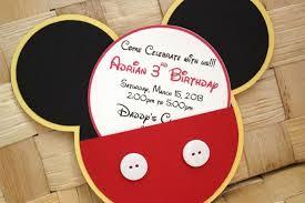 Homemade St Birthday Invitation Ideas Mickey Mouse Birthday