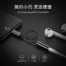 apple headphone adapter. adapter lightning ke 3.5mm headphone for iphone 7/8/x - silver apple p